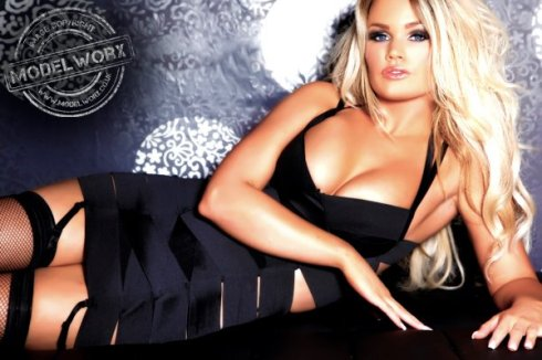 Rachel Ward in a sexy black dress